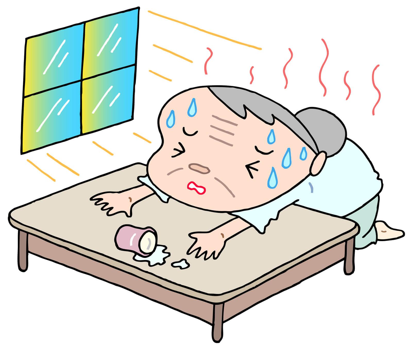 熱中症の年寄りの症状!室内で90歳祖母が倒れた時の体験談★